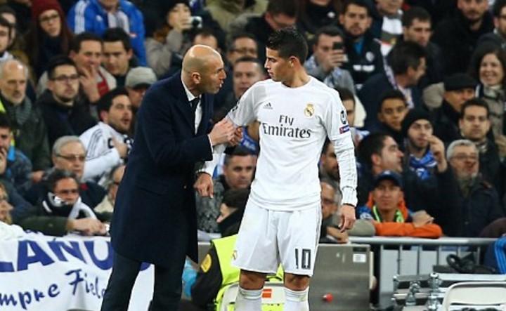 Image result for Zidane James Real Madrid