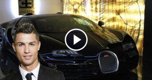 Video – Cristiano Ronaldo drives the new Bugatti Chiron for a spin round a test track