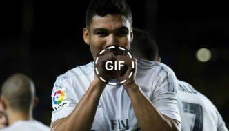 Casemiro scores Real Madrid's 6th goal vs Deportivo