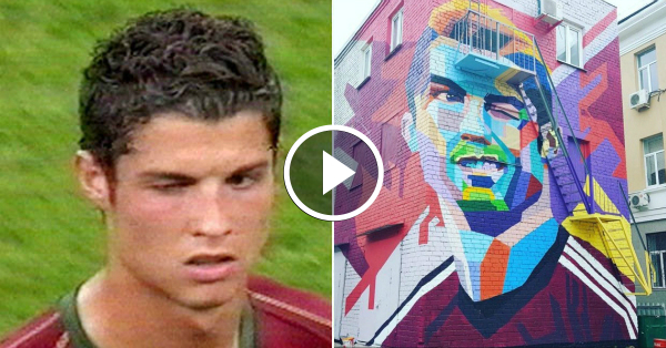 Have you seen this enormous ronaldo mural in russia for Cristiano ronaldo wall mural