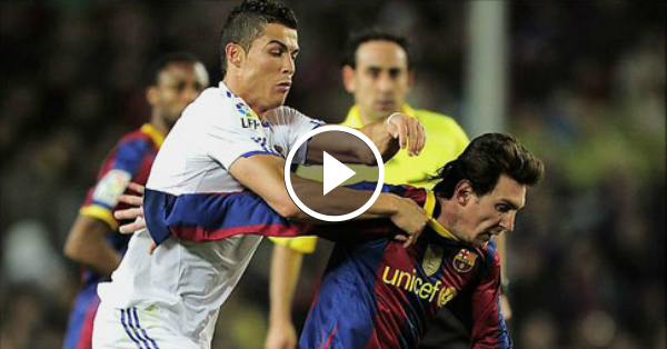 ronaldo vs messi fights and angry moments on the field